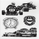 Black Foiled Racing Cars