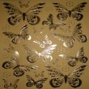 Magnolia Butterflies - Gold Foil