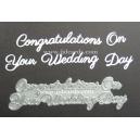 BRITANNIA DIES - CONGRATULATIONS ON YOUR WEDDING DAY WORD SET - 005