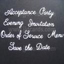 Wedding Etiquette Word Set