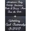 Multibuy - Wedding Etiquette Sets 1 & 2 - 008 017