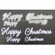 BRITANNIA DIES - HAPPY CHRISTMAS WORD SET - 001 & 003