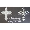 BRITANNIA DIES - CHRISTENING & CONFIRMATION WORD SET WITH FILIGREE CROSS - 034 & 090