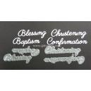 BRITANNIA DIES - BLESSING BAPTISM CHRISTENING CONFIRMATION WORD SET - MULTIBUY - 033 & 034