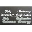 BRITANNIA DIES - CHRISTENING CONFIRMATION HOLY COMMUNION WORD SET - MULTI-BUY - 034 & 035