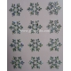 Rhinestone Snowflake Flowers - 25mm Aurora Borealis