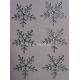 Rhinestone Snowflakes - 35mm Clear