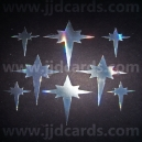 Stars - Silver Holographic