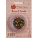 Round Brads - 6mm Primary Colours - 40