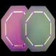 Jewelled Elegance - Octagon - Amethyst - JEW1015