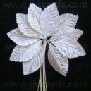 Leaves - White Satin