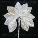 Satin Leaves - Ivory