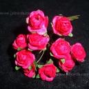 Paper Tea Roses - Fuschia