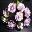 Paper Tea Roses - Lilac & White