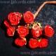 Paper Tea Roses - Red