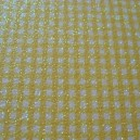 Luxury Glitter Card - Gingham - Yellow