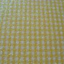 Luxury Glitter Card - Gingham - Yellow