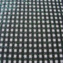 Luxury Glitter Card - Gingham - Black