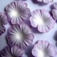 Paper Flowers - Lilac & White