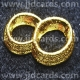 Wedding Rings - Gold Embossed