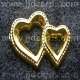 Hearts - Gold Embossed