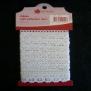 Self Adhesive Lace - White