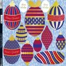 Christmas Baubles - Blue