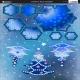 Christmas Tree & Snowflake - Blue