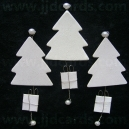White Glittered Christmas Trees
