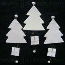 White Glittered Christmas Trees
