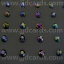 Multi Coloured - 100 Rhinestones