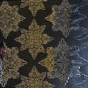 Textile Collection - Christmas Florentine Star - Black