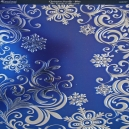 Textile Collection - Christmas Scrolls - Blue