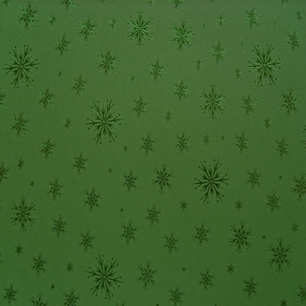 Kanban - Background Card - Green with Green Snowflakes