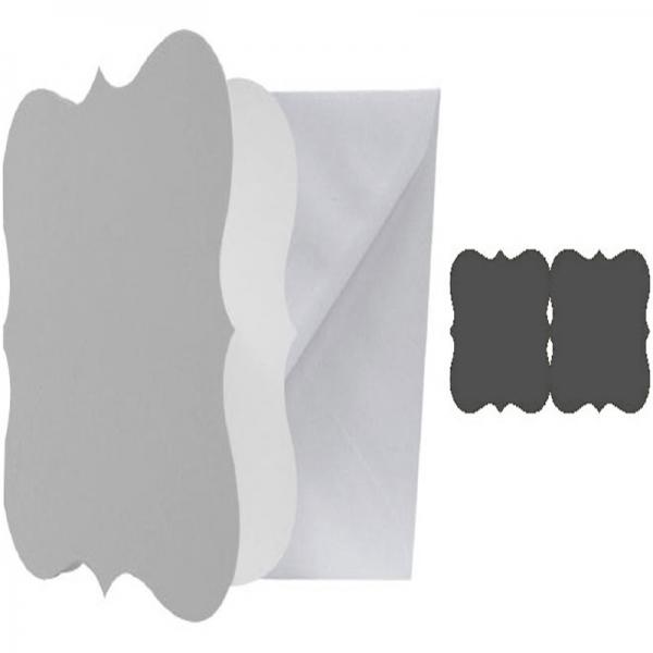 Kanban 18 patterned shaped card blanks and envelopes refHKe