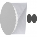 150mm Scalloped Circle Cards