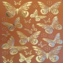 Terracotta Butterflies - Gold Foil