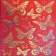 Red Butterflies - Gold Foil