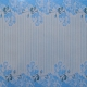 Watercolour Acetate - Floral Stripe - Blue