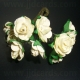 Paper Tea Roses - Ivory