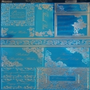 Textile Collection - Sentiment Toppers - Blue
