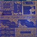 Textile Collection - Sentiment Toppers - Navy Blue