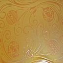 Textile Collection - Christmas Bauble Swirls - Gold