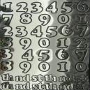Silver Mirri Numbers - Black Outline