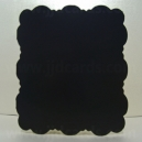 Midnight Black - Adorable Scorable - 5 x 5 Square Cloud Fancy Shaped Cards & Envelopes