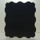 Midnight Black - Adorable Scorable - 5 x 5 Square Cloud Shaped Cards & Envelopes - CB1021
