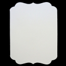 Dove White - Adorable Scorable - A6 Tag Shaped Cards & Envelopes