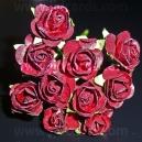 Paper Tea Roses - Burgundy