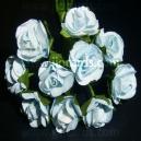 Paper Tea Roses - Baby Blue