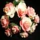 Paper Tea Roses - Deep Pink & Ivory